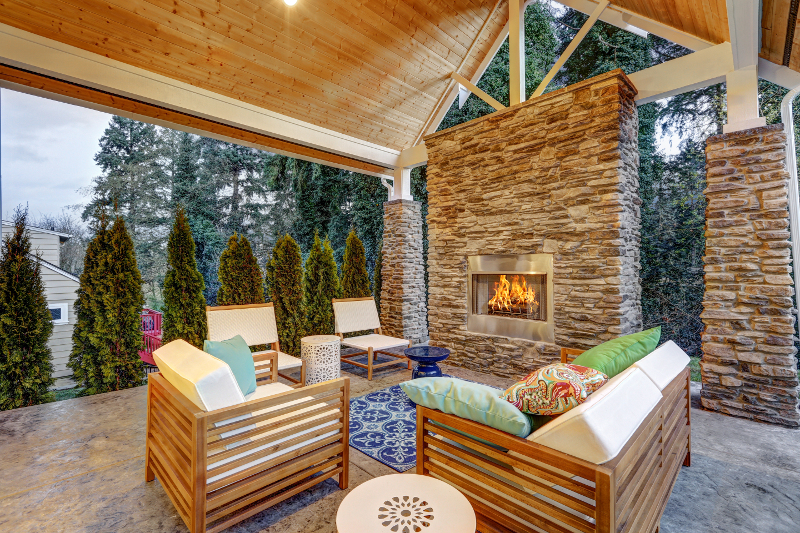 pergola melbourne outdoor fireplace